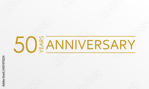 Fotografia  50 years anniversary emblem