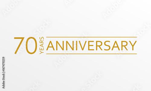 70 years anniversary emblem Tableau sur Toile