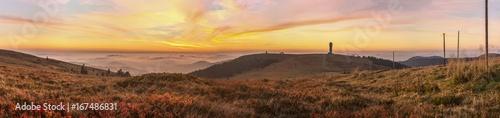 Foto op Aluminium Diepbruine Feldberg Panorama Sunrise