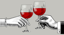 Hands Of Man And Woman Clink G...