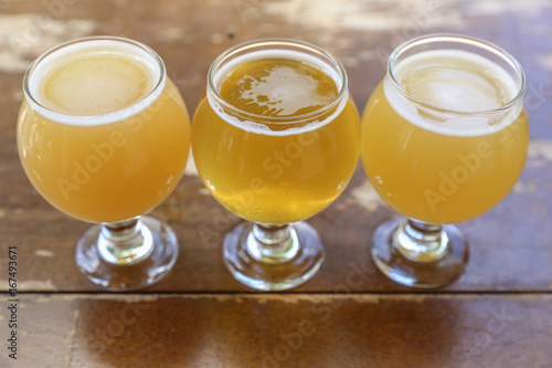 Hazy Juicy New England Style IPA Craft Beer Tasting Flight фототапет