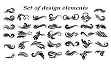 Swirly Line Curl Patterns Isol...