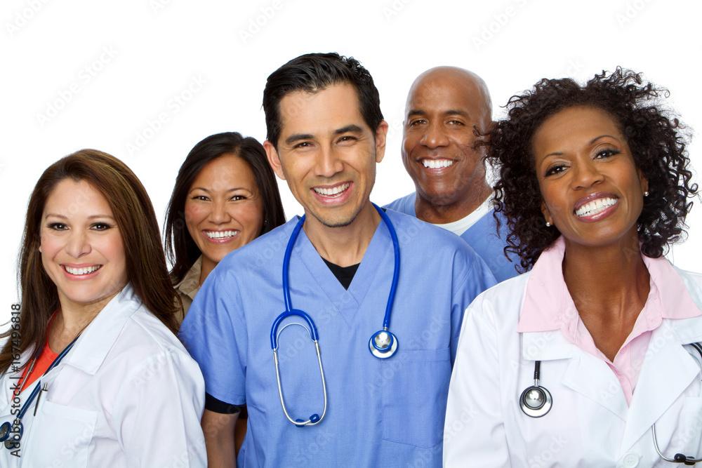 Fototapety, obrazy: Friendly Hispanic nurse or doctor smiling.