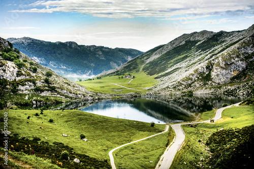 Lakes of Covadonga in Asturias, Spain