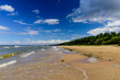 The beautiful sandy beach on the Baltic sea, Narva-Joesuu, Estonia. Narva-Joesuu - seaside resort and popular holiday destination in Estonia