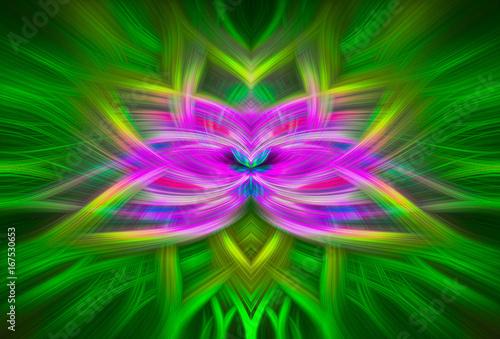 """Plakat Spiritual Twirl Art # 10 - """"Fioletowy kwiat"""""""