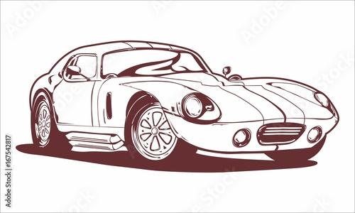 Photo  Vintage Car Lineart