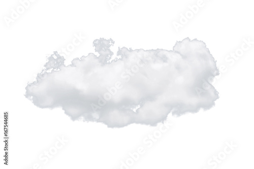 Canvas Prints Heaven Nature single white cloud isolated on white background. Cutout clouds element design for multi purpose use.