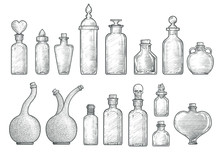 Potion, Medicine Bottle Illust...