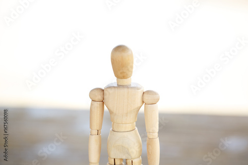 Fotografie, Obraz  木製の人の模型