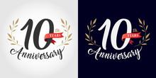 10 Years Anniversary Number Ha...