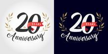 20 Years Anniversary Number Ha...