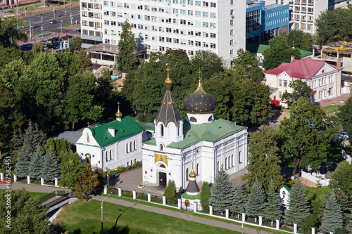 Aerial view of the orthodox Church of St Fototapeta