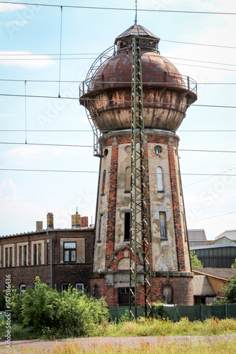 Foto op Aluminium Oude gebouw Wasserturm in Köthen
