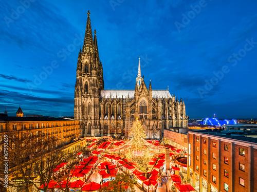 Pinturas sobre lienzo  Weihnachtsmarkt in Köln, Deutschland