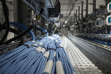 Wires And Optical Fibers In A Modern Datacenter