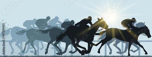 Fotografía horse racing in hippodrome