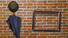 Portrait Frame On A Brick Wall