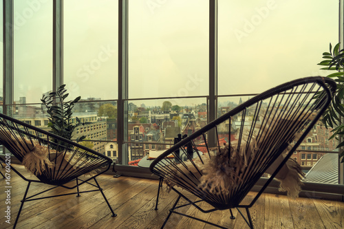 Photo  Cafe with view of Amsterdam