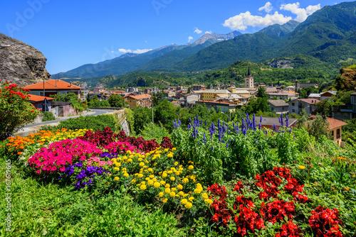 Fotografija Susa town in the Susa Valley, Alps mountains, Italy