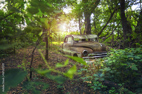 Forgotten Car In Woods Buy This Stock Photo And Explore Similar