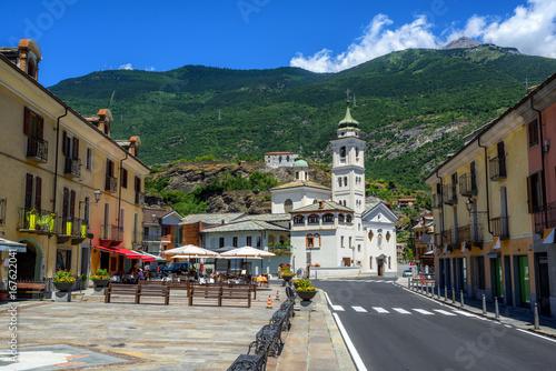 Susa Old Town in Alps mountains, Piedmont, Italy Fototapeta