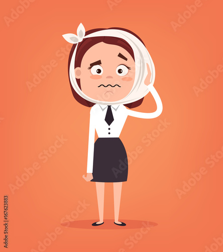 Sad Crying Office Worker Woman Character Have Toothache Vector Flat Cartoon Illustration Buy This Stock Vector And Explore Similar Vectors At Adobe Stock Adobe Stock