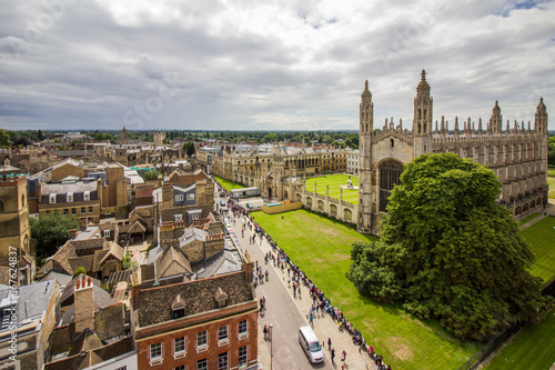 Canvas Panoramic view of Cambridge city centre