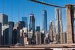 ニューヨーク・ブルックリン橋から望むマンハッタンの摩天楼