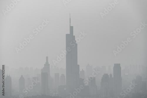 Papiers peints Paris Fog and Haze in China