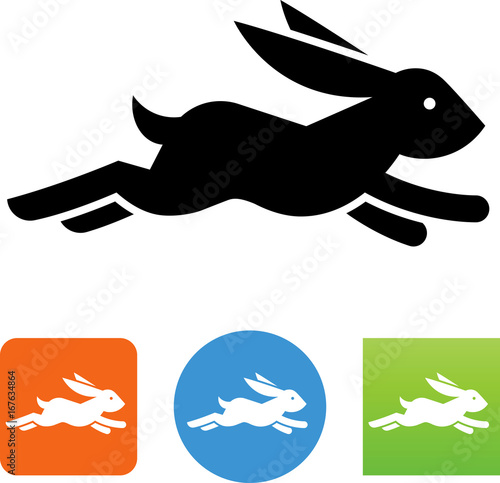 Fotografie, Obraz  Quick Rabbit Icon - Illustration