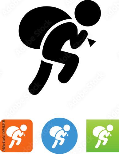 Stampa su Tela Robber Icon - Illustration