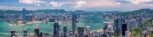 obraz dibond 香港・ビクトリアピークからの景色 日中