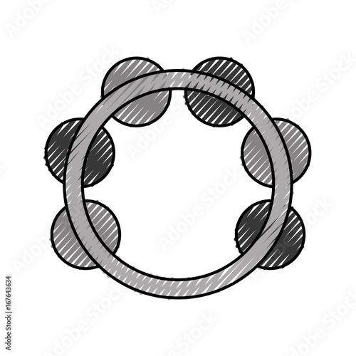 tambourine musical instrument icon vector illustration design Fototapeta