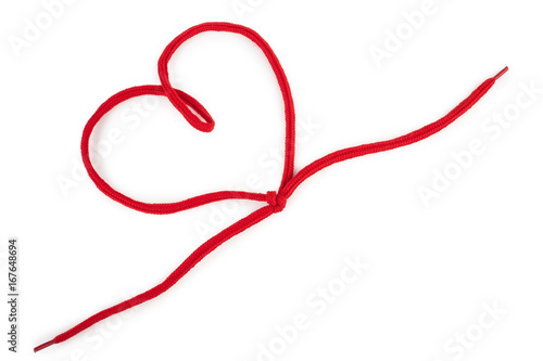 Fotomural  Heart of a red  shoelace