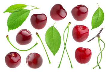 Cherry isolated on white background. Collection