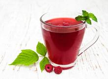 Glass Of Raspberry Tea