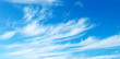 canvas print picture - Blue sky with light cirrus clouds