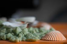 Macro View Of Seashells. Seash...