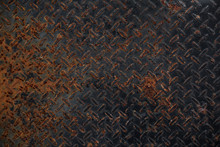Old Rusty Black Metal Plate Pattern Texture