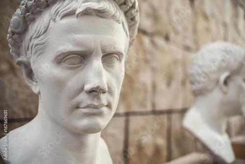 Fotografia, Obraz Busto di Augusto Imperatore. Copia in gesso di originale romano