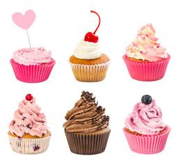 Fototapeta Popularne Set of cupcakes