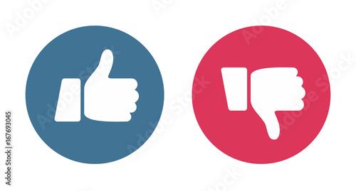 Fotomural  Like and Dislike Icons - vector illustration