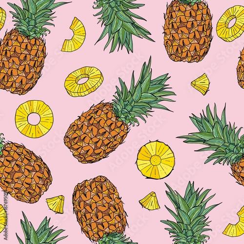 ananasowy-bezszwowy-wzor-ilustracji-wektorowych