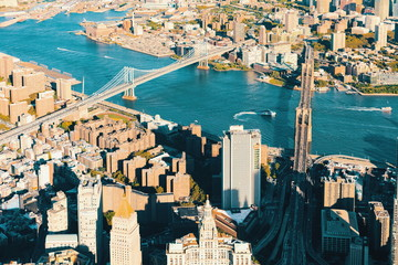 FototapetaAerial view of the Lower East Side of Manhattan with Brooklyn in the background