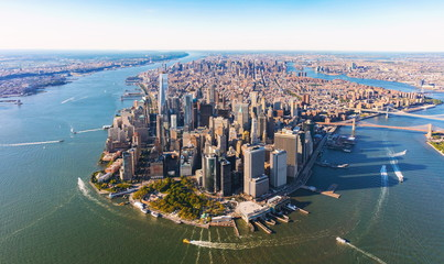 FototapetaAerial view of lower Manhattan New York City