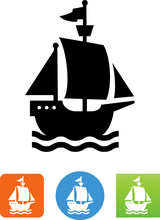 Sailing Ship Icon - Illustration