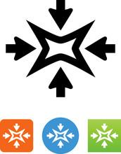 Shrink Arrow Icon - Illustration