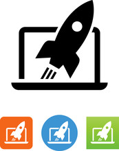 Site Launch Icon - Illustration