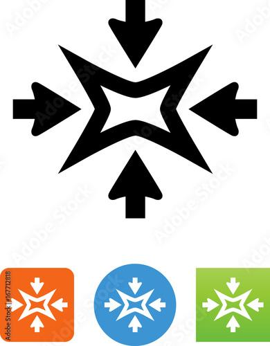 Valokuvatapetti Shrink Arrow Icon - Illustration
